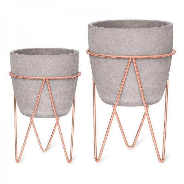 cj 2 vasos cimento com suporte metal rose 20877937 1 20190320180949
