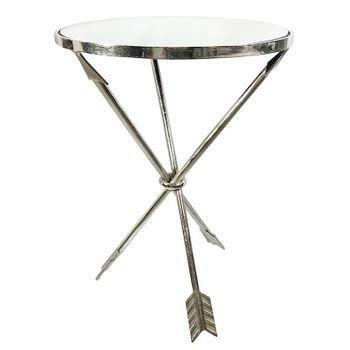 mesa lateral redonda flechas de metal prateada 20877215 1 20181210150918