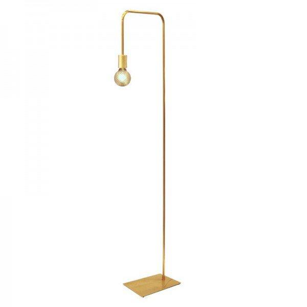 luminaria de piso simple aluminio dourado escovado s lampada 20878059 1 20190326143158