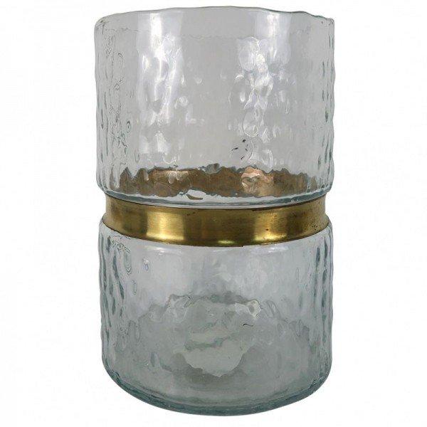 vaso de vidro com dourado 15 5cm x 15 5cm x 22cm 20877655 1 20190208150456