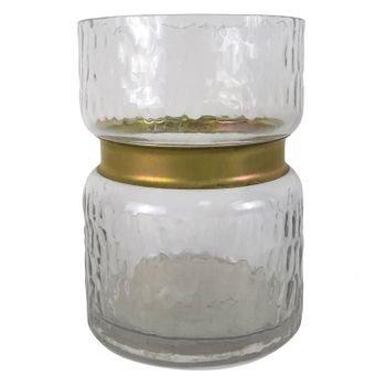 vaso de vidro com dourado 12cm x 12cm x 16cm 20877657 1 20190208150437