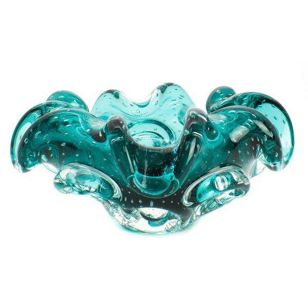 centro de mesa cinzeiro em cristal murano 5036 verde esmeralda 20876350 1 20181210150750