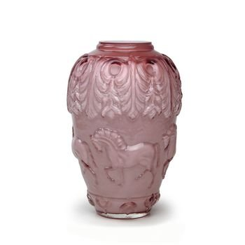 vaso de vidro em alto relevo cavalos cor rose 20877477 1 20181210150802