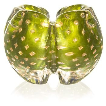 centro de mesa cristal murano pagliacci cor verde oliva c ouro 20877711 1 20190214171812