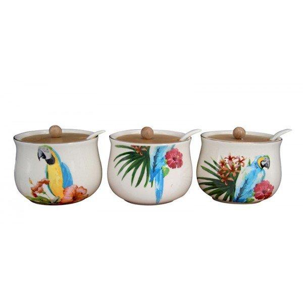 conjunto de 3 potes de ceramica araras 20876861 1 20181210150917