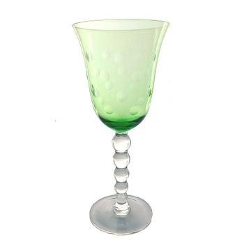 set de 6 tacas de agua de vidro cristalino lapidado verde 20877323 1 20181210150845