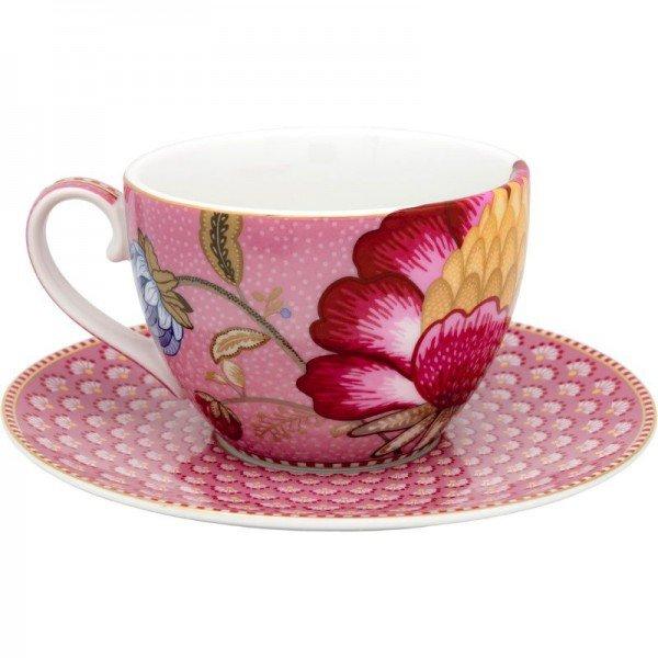 xicara de cha porcelana rosa floral fantasy 20877589 2 20190125172454