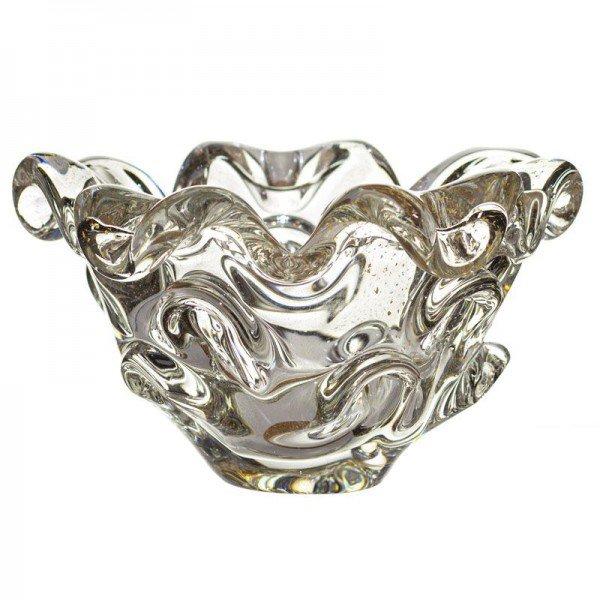 centro de mesa cristal de murano transparente com ouro 20877605 1 20190130175550