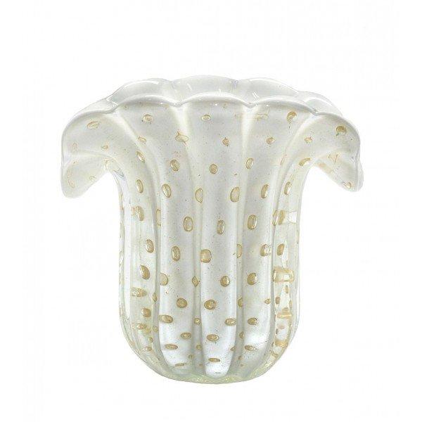 mini vaso de cristal murano leque branco leitoso c ouro 20876160 1 20181210150705