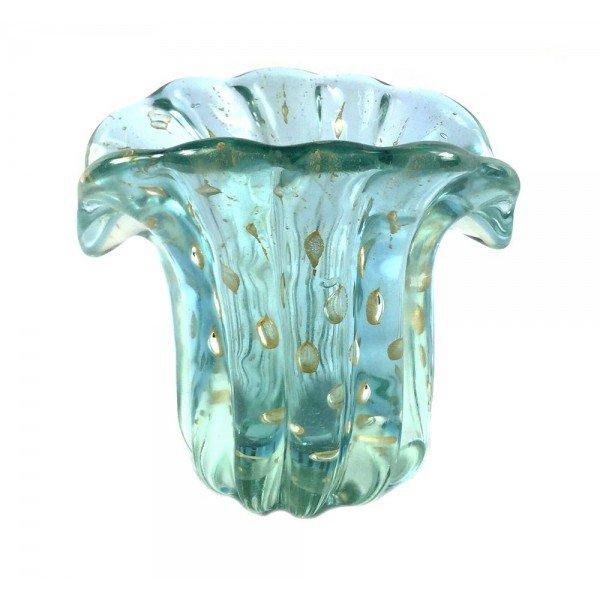 mini vaso de cristal murano leque azul c ouro 20877077 1 20181210150711