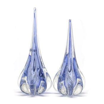 par de gotas em cristal de murano fenix m g azul turquesa 20876164 1 20181210150734
