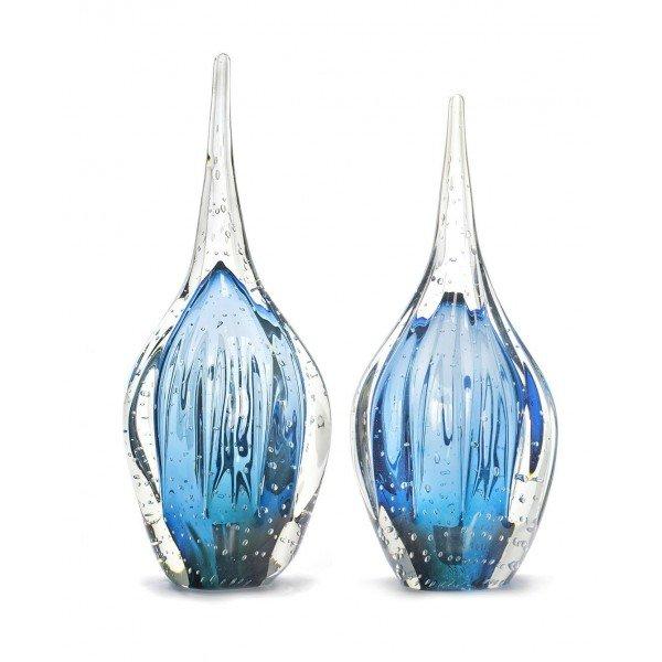 par de gotas de cristal murano douai m g aquamarine 20875338 1 20181210150731