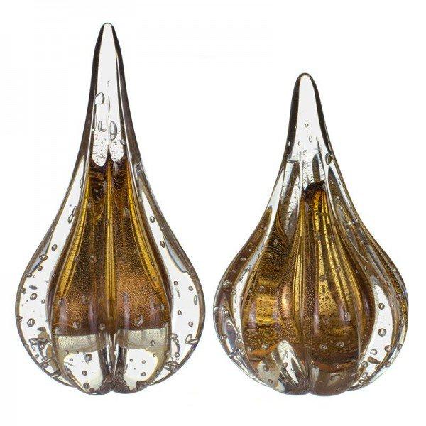 par de gotas cristal murano piasa p pp garnet c ouro 20877823 1 20190304163233