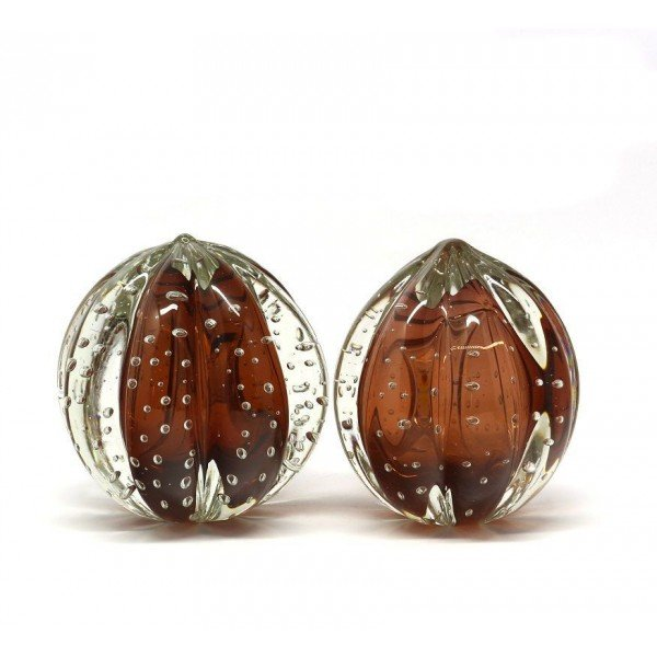 par de esferas em cristal murano senna p m rubi dourado 20875432 1 20181210150721