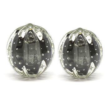 par de esferas em cristal murano senna p m cor onix fume 20876180 1 20181210150723