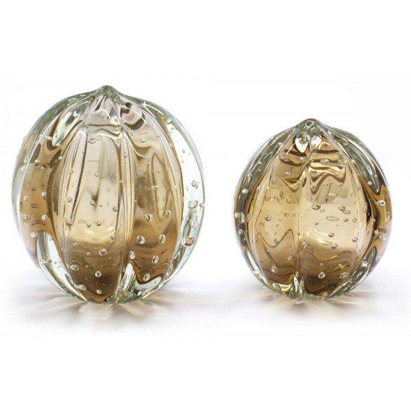 par de esferas em cristal murano senna p m cor garnet 20875834 1 20181210150722