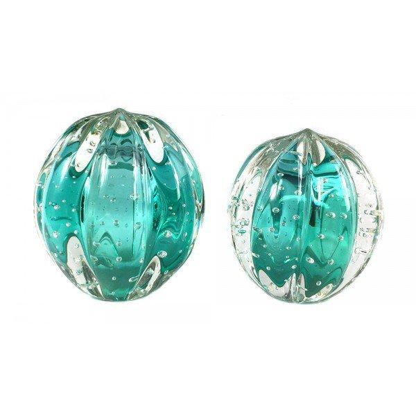 par de esferas em cristal murano senna p m cor esmeralda 20876651 1 20181210150724