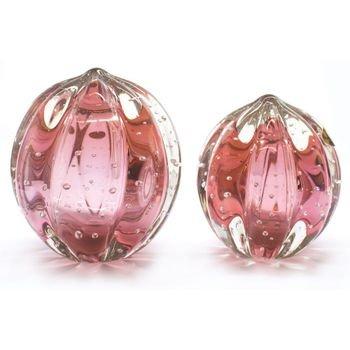 par de esferas em cristal murano senna m g cor cereja 20875842 1 20181210150722