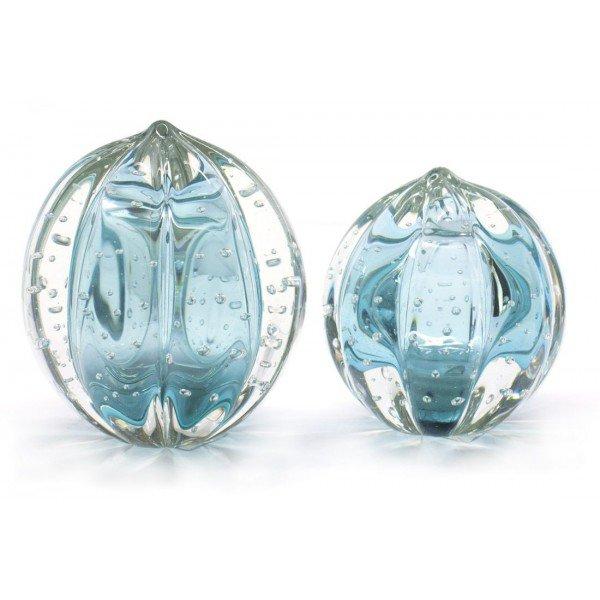 par de esferas em cristal murano senna m g cor azul turquesa 20875840 1 20181210150722