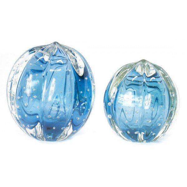 par de esferas em cristal murano senna p m cor aquamarine 20876284 1 20181210150724