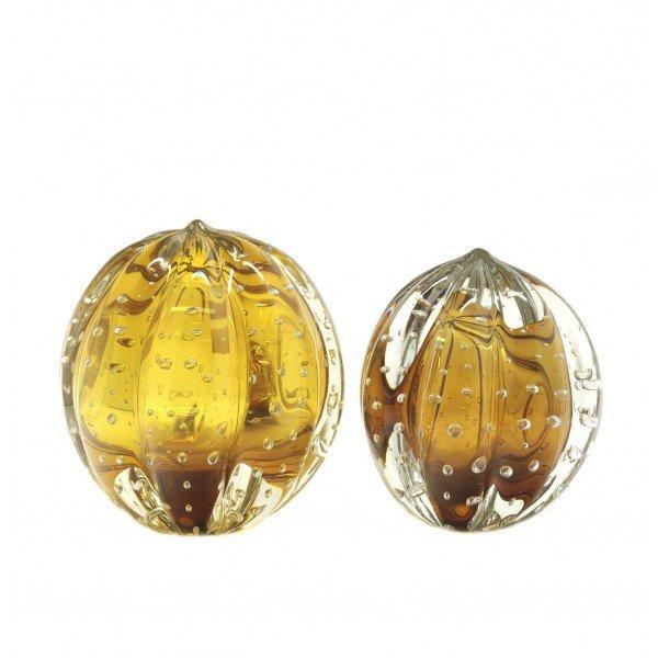 par de esferas em cristal murano senna m g cor ambar 20875498 1 20181210150722