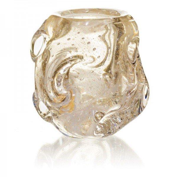 vaso cristal de murano ornate com ouro transparente 20876649 1 20190207160104