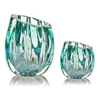 par de vasos em cristal murano marselha p g cor esmeralda 20877735 1 20190219163632