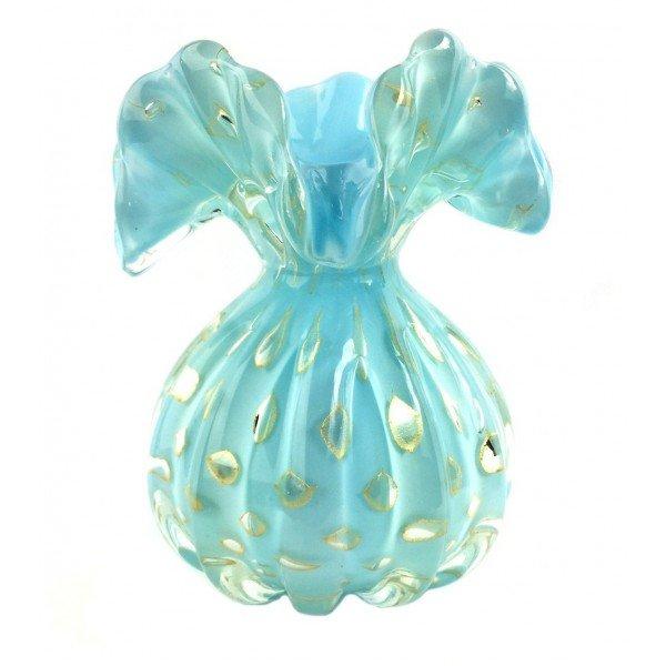 vaso cristal murano trouxinha veneza cor tiffany c ouro 20876979 1 20181210150652