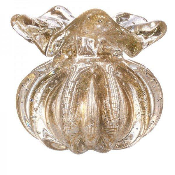 vaso cristal murano trouxinha ferrara transparente c ouro 20877725 1 20190311143431