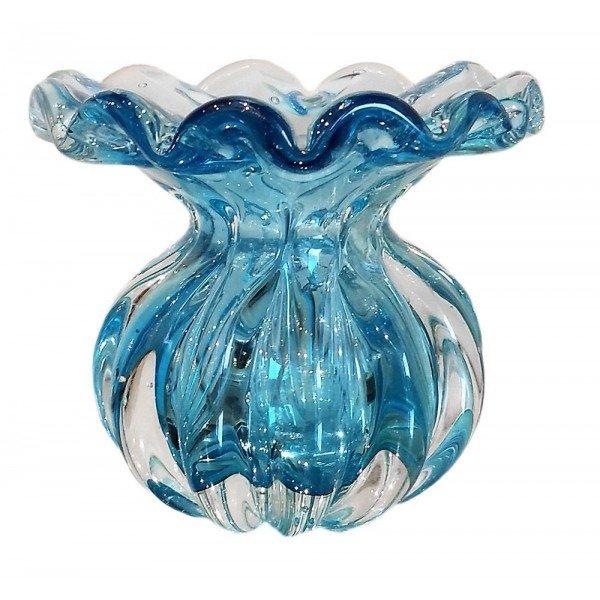vaso de cristal murano trouxinha battlo p cor aquamarine 20876601 1 20181210150649