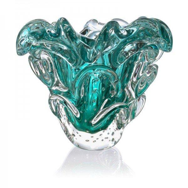 vaso de cristal murano sotis cor esmeralda 20877859 1 20190319174935
