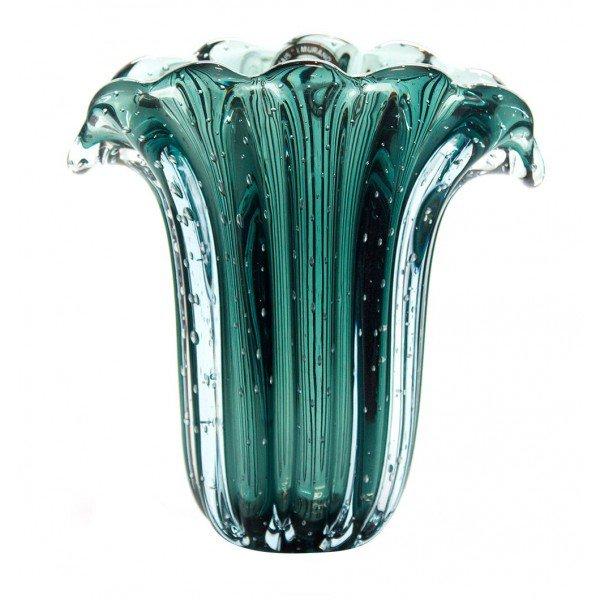 vaso em cristal murano trouxinha leque verde pinheiro 20875772 1 20190103152813