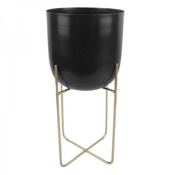 cachepot preto com suporte dourado 18 4 cm x 40 cm 20877643 1 20190207115446