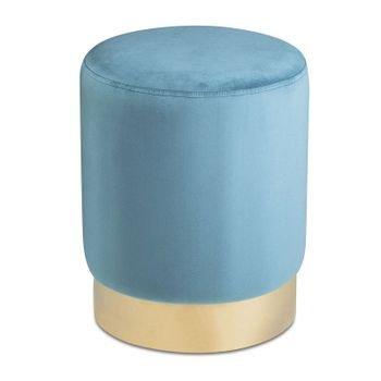 banqueta puff em veludo azul turquesa 20877923 1 20190320181437