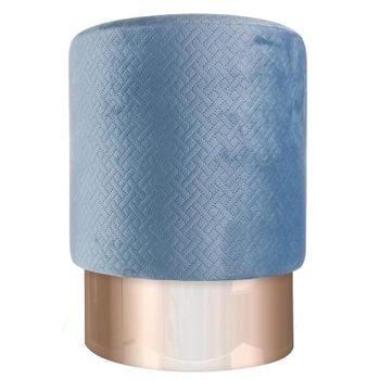 banqueta puff em veludo azul com metal rose gold 20878343 1 20190427180516