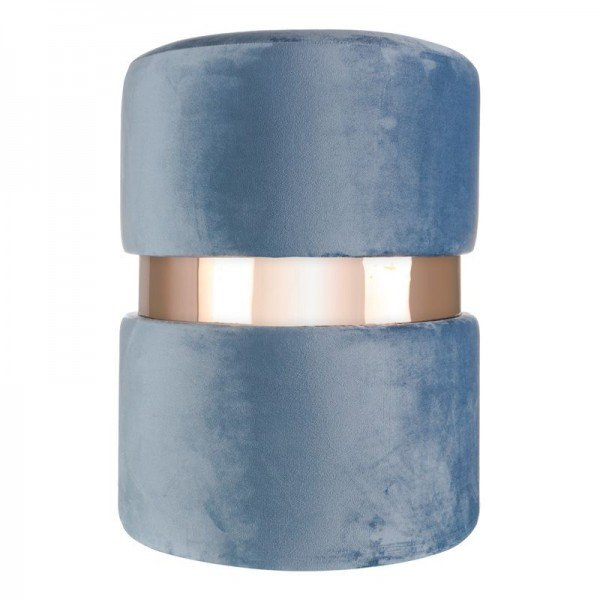 banqueta puff em veludo azul com metal rose gold 20878337 1 20190427180619