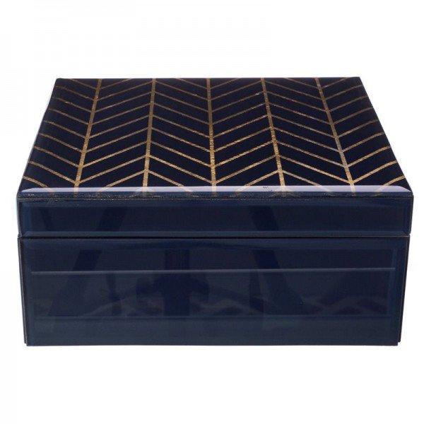 caixa decorativa vidro azul marinho friso dourado p 20878159 1 20190405165526