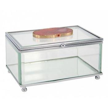 caixa decorativa de vidro pedra agata rosa 20875908 1 20181210150827