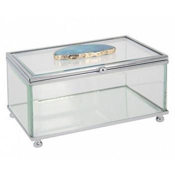 caixa decorativa de vidro pedra agata azul 20875906 1 20181210150827