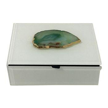 caixa decorativa c pedra agata verde 20875900 1 20181210150826