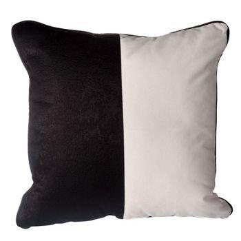 almofada em veludo branco c aplique couro preto mod02 20878447 1 20190515144612