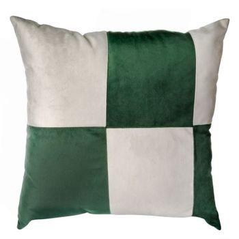 almofada em veludo verde e branco c emenda mod03 20878443 1 20190515144818
