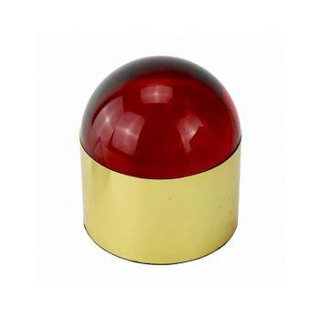 caixa decorativa metal dourado e cristal vermelho 20878833 1 20190627151544