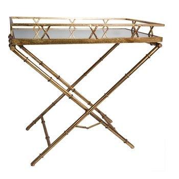 mesa lateral retangular ouro velho