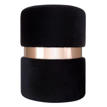 banqueta puff em veludo preto com metal rose gold 20878341 1 20190427180557