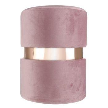 banqueta puff em veludo rosa com metal rose gold 20878335 1 20190427180635