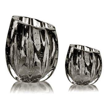 par de vasos em cristal murano marselha p g cor onix grafite 20878457 1 20190515153815