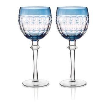 set 2 tacas de vidro cristalino lapidado p agua azul 20878873 1 20190717172044