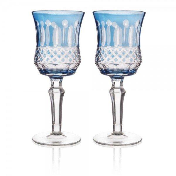 set 2 tacas de vidro cristalino lapidado p vinho azul 20878875 1 20190722180028