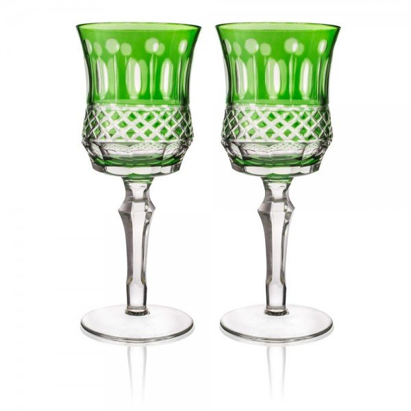 set 2 tacas de vidro cristalino lapidado p vinho verde 20878879 1 20190717180121 1